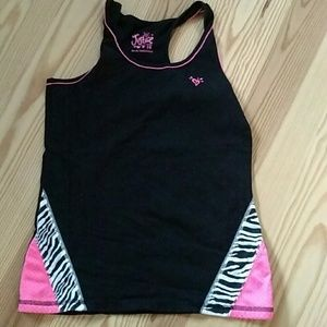 Justice Zebra Pattern Top